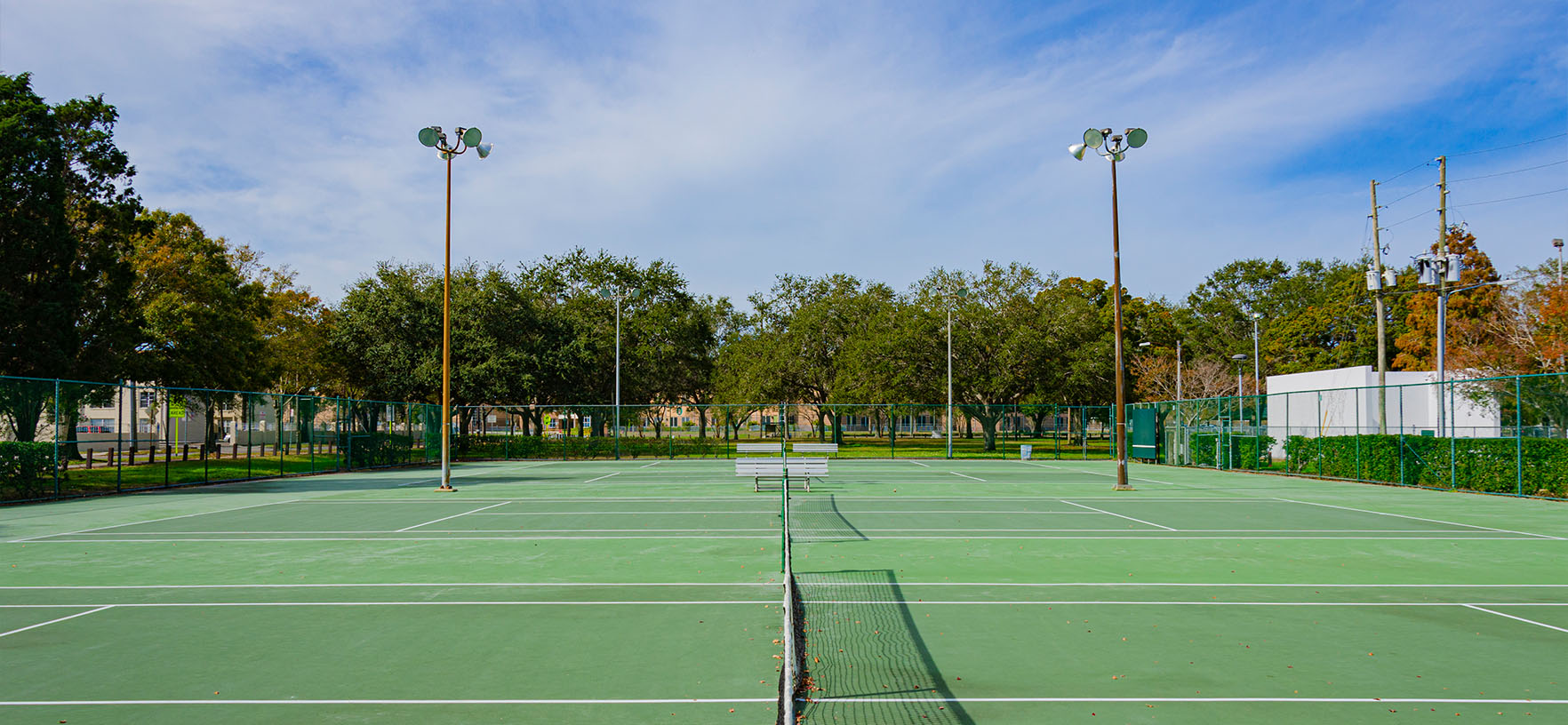 Campbell Park outdoor tennis court