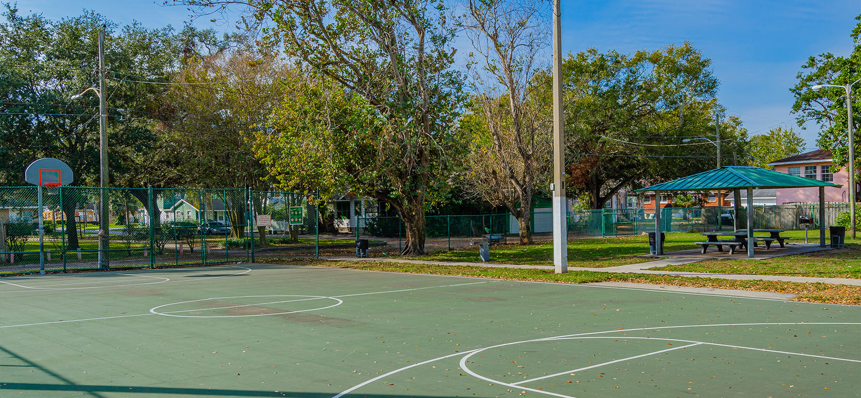 Silver Lake Playlot Outdoor Basketball Court
